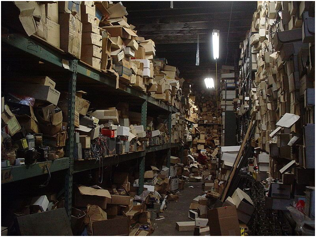 cluttered warehouse